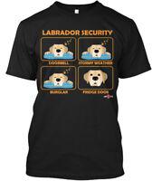 Labrador Security | Yellow Lab - Doorbell Stormy Hanes Tagless Tee T-Shirt