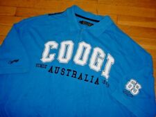 Authentic Vintage COOGI Mens Short Sleeve Polo Shirt Royal-Blue Logos 5XL Sharp!