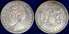 5 LEI 1883 CARLO I ROMANIA #4465