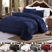 3Pcs Down Alternative Comforter Set Ultra Soft Reversible All Season Bedding Set