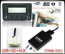 Yatour Digital CD Changer USB SD AUX adapter for Toyota 5+7 Big Lexus Scion BT