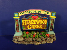 SALE Jim Shore WELCOME TO HEARTWOOD CREEK SIGN w/ box NEW! Combine Shipping!
