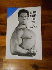 Reg Park A BIG CHEST FOR YOU bodybuilding muscle booklet
