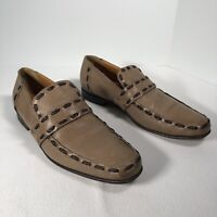 Vintage Sergio Rossi Mens Leather Slip On Shoes Tan Size 11 Made In Italy