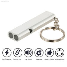 012C Aluminum Alloy First Aid Whistle Outdoor Gadget Survival Silver