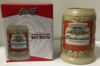"Budweiser Label ""King of Beers"" 2015 Stoneware Stein  NEW mug frm Anheuser-Busch"
