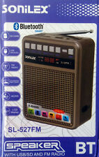 SONILEX Portable Bluetooth FM Transistor/Radio with USB/SD MP3 Player+Display