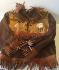 Vintage Child's Size 6 Cowboy & Indians Country Western Costume Shirt