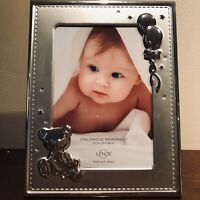 """Lenox CHILDHOOD MEMORIES BEAR FRAME 5x7"""" Picture Silverplate NEW"""