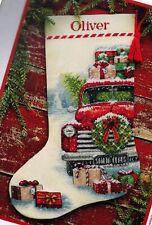 Dimensions Santas Truck Farm House Christmas Cross Stitch Stocking Kit 08986