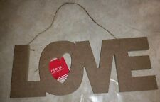 Valentine's Paintable Love hanging decor sign