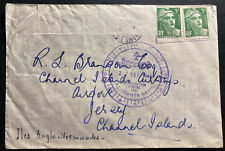 1946 Paris France Hotel Lutetia Airmail Cover To Jersey Channel Islands