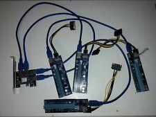 4 x Risers + PCI-E Express 1 to 4 Port, Splitter Hub Card Extender Riser