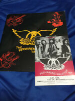Aerosmith The Permanent Vacation Japan tour 1988 Steven with Promo Flyer