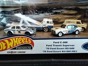 NEW 2021 Hot Wheels Ford Set C800 Supervan Escort RS1600 MK2 RS1800