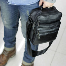 Men's Small Handbag Leather Messenger Tablet Bag Shoulder Crossbody Bags Satchel