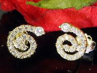 585 Gold Ohrstecker Schnecken 1 Paar 8,5 mm Grösse mit  36 Zirkonia Steinen