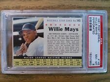 1961 Post Cereal Willie Mays Perforated PSA 8 Near Mint-Mint