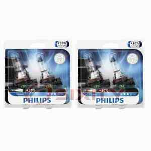 2 pc Philips Front Fog Light Bulbs for MG TF 2003-2005 Electrical Lighting nf