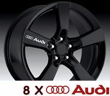 8 X AUDI Wheels Door Handle Decal Sticker Graphics Vinyl Emblem Logo Car A
