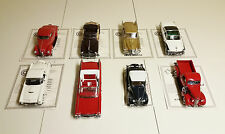 Lot of 8 Danbury Mint Diecast 1:24 Scale Model Cars w/Titles - Collector Series