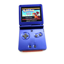 Blue Game Boy Advance Gba Sp Console w/ Ags 101 Brighter Backlit Lcd Console