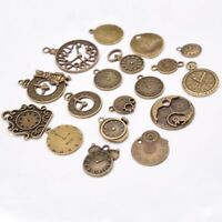 18pcs /lot Steampunk Clock Mixed Clock Pendant Charms Vintage Pendant Charms