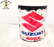 Retro Suzuki Racing MotoGP Motorcycle Oil Can Mug Tea Coffee Mug
