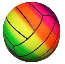 RAINBOW SPORTS VOLLEYBALL BALL kick bounce squeeze novelty play toy bouncing NEW
