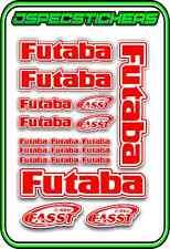 FUTABA RC STICKERS A5 SHEET R/C PLANE CAR BUGGY HELI REMOTE CONTROL RED WHITE