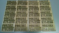 "3/4"" Self-Adhesive Gold Arabic Clock Numbers-NEW 20 SETS, USA made"