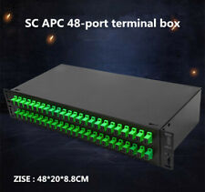SC APC 48-port fiber optic terminal box is fully equipped with CATV cabinet