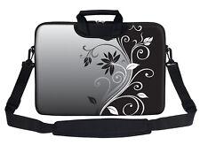 "15.6"" Laptop Computer Sleeve Bag with 2 Top Pockets & Shoulder Strap Handle 2252"