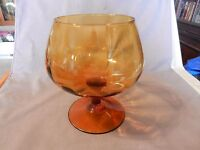 """Vintage Large Brown Amber Brandy Glass Stem for Candy or Flowers 8"""" Tall (M)"""