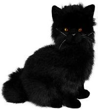 Cat Black Plush Stuffed Soft Toy 34cm/13in Crystal by Bocchetta
