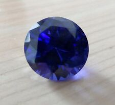 13.59CT AAA Natural Blue Zircon Gems Round Faceted Cut 13mm VVS Loose Gemstones