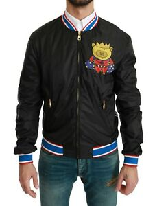 DOLCE & GABBANA Jacket Black YEAR OF THE PIG Bomber IT48 / US38 / M RRP $1100