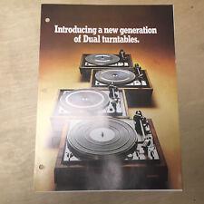 Vtg Dual Turntable Brochure 1974 ~ 1225 1226 1228 1229Q Original United Audio