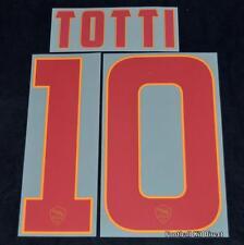ROMA TOTTI 10 MAGLIETTA da calcio nome / numero SET KIT AWAY SERIE A 2014/15