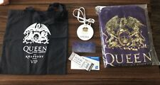 Queen+Adam Lambert Rhapsody Tour Vip Pkg-New Sealed Robe, Bag, Hologram, Etc