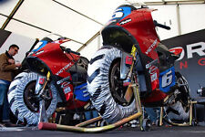Biketek Pro cubierta motorcycle Calentador Set - 120/70 -17 200/55 -17 - Race & Track día