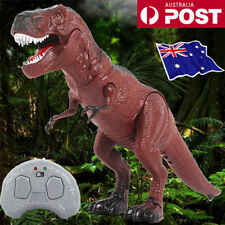 Walking Remote Control Dinosaur Toy Light-Up Sound Action Figure Xmas Gift ON