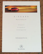 1998 Mercedes Benz A-Class LISTINO Classic Elegance Avantgarde 140 160 170 CDI