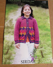 Sirdar Country Style DK - Pattern No. 2386 - Girl's Jackets
