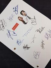 Chuck TV Script Pilot Signatures Autographs Reprint Zachary Levi Spy Screenplay