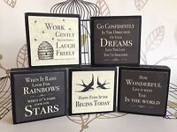 Vintage Chic Wooden Word Blocks Plaque Sign Shabby Chic Home Gift East of India