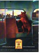 PUBLICITE ADVERTISING  2001    GORDON'S    SPECIAL LONDON DRY GIN