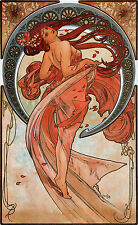 Alphonse Mucha Art Nouveau Fruit Dance Flower & FREE Print 4 Giclee Pictures New