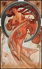 Alphonse Mucha Art Nouveau Fruit Dance Flower & FREE Print 4 Giclee Pictures New