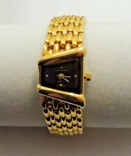Beautiful Ladies Gloria Vanderbilt Gold Watch-Bracelet Band Japan #3515 Works